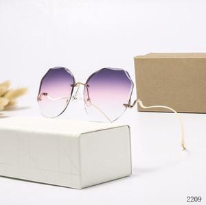 verano nueva mujer de las gafas de conducción hombre señoras de la manera al aire libre gafas de sol de playa viento ciclismo Gafas de sol de los vidrios de cristal gens del envío r