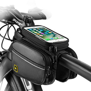 Accessories Front Frame Bag Capacity Phone Cover Large Top Touch Bike Bag Cell Waterproof MTB Holder Screen With Bicycle Cycling Tu Rfcca