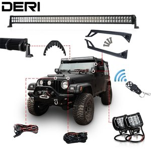 50 inch 288W Offroad LED Work Light Bar kit + Mount Wireless Remote Controller Bolts+Isolator For JEEP Wrangler YJ 1987 1995