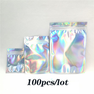 100 Pieces Resealable Smell Proof Bags Zip Mylar Bag Aluminum Foil Bags Durable Double-Sided Metallic Smell Proof Pouches free shipping