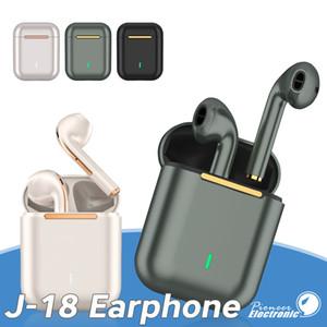2020 الجديدة J18 TWS بلوتوث 5.0 سماعة سماعة رأس لاسلكية HD نداء HIFI TWS سماعة الهاتف الذكي ل