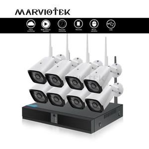نظام المراقبة 720P كاميرا IP واي فاي CCTV أطقم الهواء الطلق فيديو 8CH نظام لاسلكي الأمن كاميرا CCTV واي فاي P2P