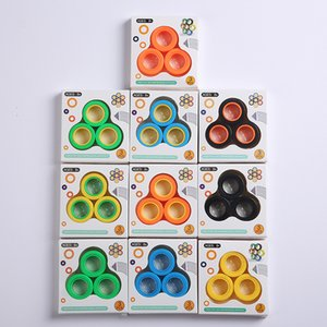 Magnetic Infinite Cube Decompression Toy Fidget Spinners Magnet Block Ring Finger Hand Table Toy Rotating Finger Gyro Character GWD2851