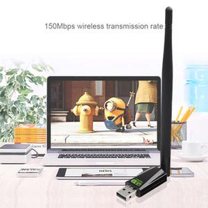 Свободный драйвер USB WiFi адаптер 150Mbps RTL8188GU С 5dBi внешней антенной высокоскоростной беспроводной приемник сетевой картой