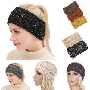 Scrunchies Головной убор Трикотажные Twist оголовье уха грелки Head Wrap Hairband Зимние виды спорта Handband Женщины Аксессуары для волос DDA538