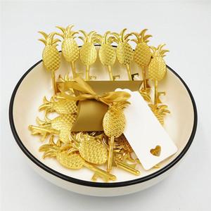 Supplies 200 X criativa Gold Box Pillow Doce Abacaxi abridor de garrafas de mensagem em branco Tag Cartão Wedding Party aniversário para fita