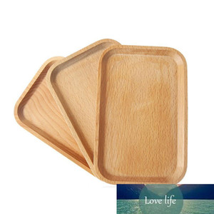 Wooden Plate Dish Square Fruits Platter Dish Dessert Biscuits Plate Dish Tea Server Tray Wood Cup Holder Bowl Pad Tableware Mat VF1574