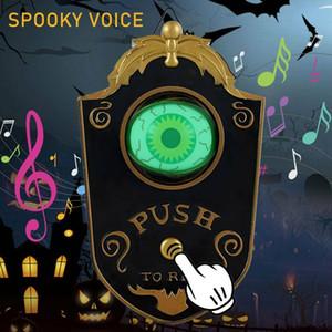 Decorazione di Halloween, animato Lightup Parlare Eyeball campanello per porte del campanello Arredamento, Halloween Party Haunted House Decoration