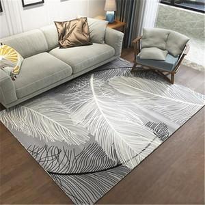 Simple Modern Abstract Chinese Ink Black Gray Carpet Bedroom Kitchen Door Mat Living Room Floor Mat Living Room Rug CF