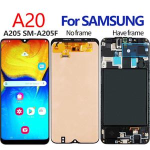 Hücre İçi Suya için Samsung Galaxy SAMSUNG A205 LCD A205F SM-A205F LCD Ekran Hücre İçi Suya için A20 A205 Ekran LCD Dokunmatik Sayısallaştırıcı ile Çerçevesi