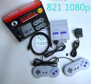 SFC NES oyunları için HDTV 1080P Çıkışı TV 821 Oyun Konsolu video El Oyunları sıcak satış Çocuk Aile Oyun Machineree DHL Kargo konsolları