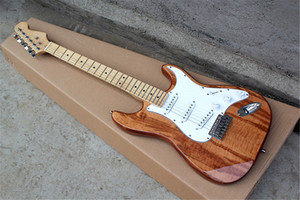 6 Strings Maple Fingerboard Electric Guitar with White pickguard,Chrome hardware,3 Pickups,can be customized