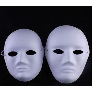 Frau White Christmas Mann Hand Diy Painted Klage für Halloween-Maskerade-Partei Cosplay Blank Gesichtsmasken