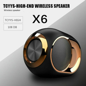 X6 HIFI Blueteth Haut-parleur portable sans fil Blueteeth 5.0 Sound Sound Soundbar FM TWS SD CARTE AUX MINI MINI METAL ROCK BASS TOUCH TOUCH TOUCH