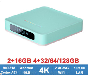 A95X R5 4k Android 10 2.4g&5g wifi media player Ott TV Box RK3318 4GB 64GB 32GB 2GB 16GB
