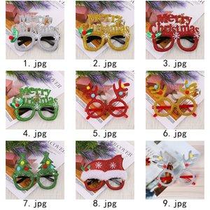 Decoraciones de Navidad gafas hijos adultos vidrios del marco navidad rojo del partido astas bola de pelo, cuernos de arco verde envío libre