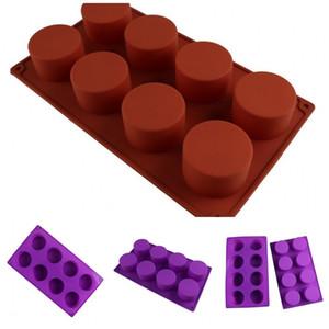 DIY Формы для выпечки сдобы Cup Cake Mold Cylinder Hand Made Soap Силиконовые Moldes De Silicona Mold Boutique красный и фиолетовый 5jm F2