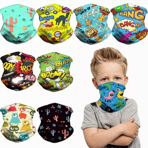 DHL Shipping Children Seamless Face Bandanas for Kids Headband Cartoon Neck Gaiters Scarf for Windproof Party Masks Headwear DHB1285