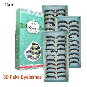 3D falsche Wimpern 10 Paare natürlicher Look Handgemachte Short weiche wiederverwendbare Wimpern Natürliche Rauchartig Flauschig Lashes DHL-freie