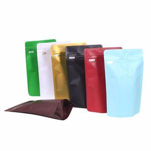 Die Hälfte Pound Coffee Bean Bag mit Luftventil Selbstdicht Clip Kette Aluminiumfolie Kaffee-Beutel-Qualitäts