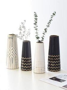 modernen nordischen Stil Kreative Einfache Keramik Vase Wohnzimmer Esstisch Wohnaccessoires Jarrones decorativos moderno