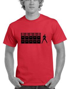 Muito Estilo Popular T-shirt dos homens Slim Fit algodão de alta qualidade do guitarrista T-shirt Pilha amplificador de guitarra Casual Camisetas