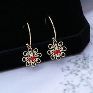 Korean fashion detachable cute smiley flower earrings micro-inlaid zircon simple earrings women s925 silver needle high quality earrings