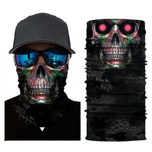 Sciarpe Scheletro Skull Bandana Ski Halloween Neck Mezza Face Mask Ciclismo Ghost Sciarpa Bandanas Sport Escursionismo