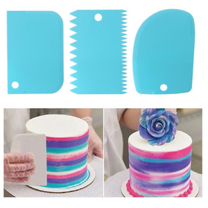 3PCS Lot Cream Scraper Irregular Teeth Edge DIY Scraper Cake Decorating Fondant Pastry Cutters Baking Spatulas Tools Molds