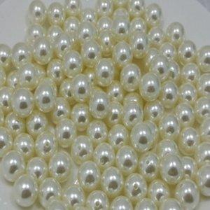 VPTYB ABS Haute Luminosité Droite Demi-trou Non-Hole Perles rondes Perles Beads Accessoires DIY DIY Pearl Bijoux Perle Matières à main