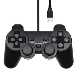 WinXP Win7 Win8 Win10 wired USB controller game handle laptop black game handle digital button wired for PC computer