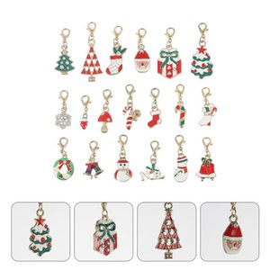 19pcs Christmas Drip Oil Pendant Durable DIY Jewelry Accessory Christmas DIY Charms Necklace Hanging Pendant Earrings fo