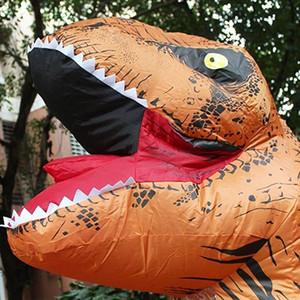 Cadılar Bayramı ve Noel Yetişkin Dinozor T REX Kostüm Jurassic World Park Blowup Dinozor Şişme Kostüm Partisi maskot Kostüm oyuncak LUT5