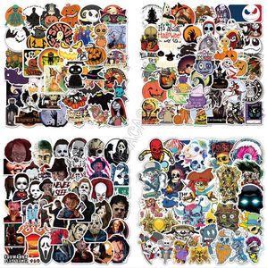 Araç Laptop skatebroad Bavul Duvar Paster Partisi DIY Halloween Çıkartma Su geçirmez PVC Poster Tampon etiketi Çıkartmaları Hediyeler D91706 Yana