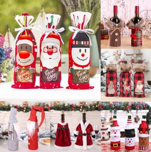 2021 Navidad 2020 Yılbaşı Ev Noel Süsler Hediyeler için FengRise Noel Baba Noel Şarap Şişesi Kapağı Merry Christmas Dekor