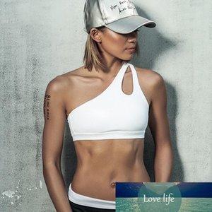 Sexy Women Yoga Sport Bra Single Shoulder Strap Sexy Clothes for Sports Womens Gym Clothes Women Sport Bra Top P142