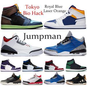 Zapatillas de baloncesto para hombre 2020 1s Black Toe Mid Bred Multi Color 1 OG Homenaje a casa chicago Gold top Pine Green Designer Sneaker