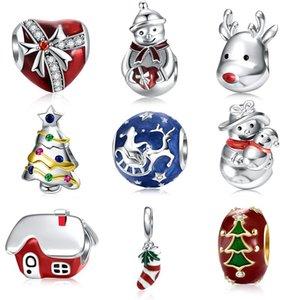 DALARAN Christmas 925 Sterling Silver Charms Beads Fit Silver 925 Original Bracelet Charm DIY Women Fine Jewelry Gift