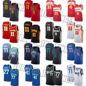 DallasMavericksJersey Luka 77 jerseys Doncic AtlantaHawksJersey Trae 11 joven jerseys Spud 4 Webb Jersey