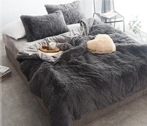 Coral Fleece-Bett-Blatt Winter verdicken Vierteilige Bettwäsche Set Designer Bett Bettdecken-Sets Flanell Coral Fleece-Bett-Sets DHA1205