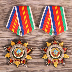 Top Quality Soviet Union CCCP Medals Soviet Order of Friendship USSR Established 50th Anniversary Badges for Collection