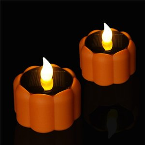 Christmas Pumpkin Lamp Plastic Pumpkin Candles Electronic Flameless Candle Home Bar Dining LED Candles Decoration Flashing Light AAB1831