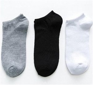 Socks Casual Breathable and Sweat Absorption Underwear Solid Color Mens Summer Socks White Black Gray Ankle Sports
