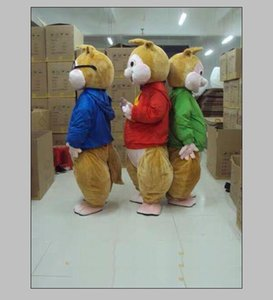 2018 hot new Alvin and the Chipmunks Mascot Costume Chipmunks Cospaly Cartoon Character adult Halloween party costume Carnival Costume