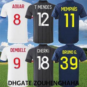 футбол Джерси Olympique Lyon 70 лет 2020 21 Lyonnais Майо де футбол рубашки AOUAR DENBELE МЕМФИС CHERKI BRUNO G.