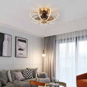 LED Ceiling Fan Light Frequency Conversion Modern Light Luxury Ceiling Fan Restaurant Fans with Lights