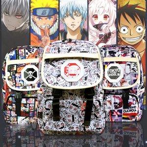 Anime Naruto Karikatur-Rucksack One Piece Tokyo Ghoul One Punch Man Printing Schultasche Rucksack Schultertasche Schulranzen Geschenke