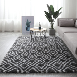 Nordic bedside carpet living room coffee table tatami rug plush floor mat various flower pattern carpet children crawling rug