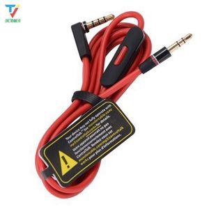 100шт / серия 3,5 Замена Красные кабели для студии Heaphones с управления Обсуждение и MIC аудиорасширения AUX штекерами для Mixr