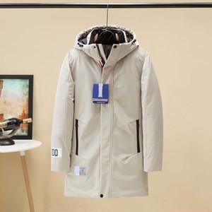 Erkekler Kış Coat Uzun Kalın Kapşonlu Parkas Mens Harf Açık WINDBREAKER Jakcet Erkek Giyim 3 Renk Boyut M-3XL yazdır Isınma